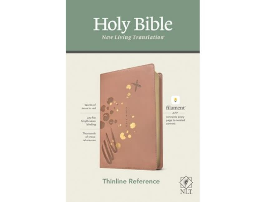 NLT Thinline Reference Bible, Filament Enable Edition - Brushed Pink