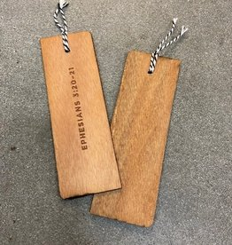 Seacoast Wooden Bookmarks - Ephesians 3:20 Scripture Reference
