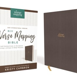 ZONDERVAN NIV, Verse Mapping Bible, Cloth over Board, Gray, Comfort Print