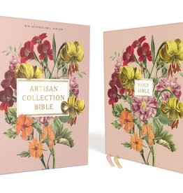 NIV, Artisan Collection Bible, Leathersoft, Blush Floral, Red Letter Edition, Comfort Print