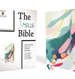 The Jesus Bible Artist Edition, NIV, Leathersoft, Multi-color/Teal, Thumb Indexed,