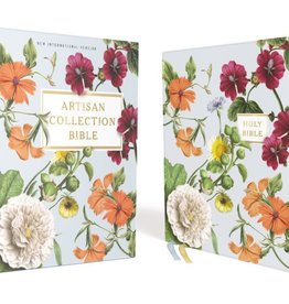 NIV, Artisan Collection Bible, Leathersoft, Blue Floral, Red Letter Edition, Comfort Print