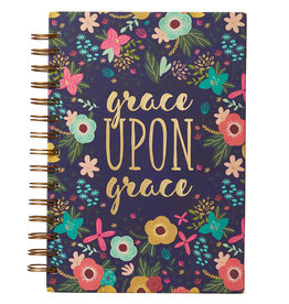 Grace Upon Grace Large Wirebound Journal