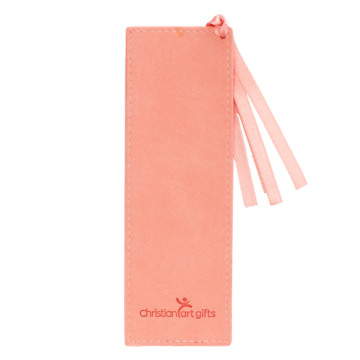 All Things Coral Faux Leather Bookmark - Romans 8:28