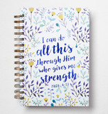 I Can Do All This Large Wirebound Journal Phil 4:13
