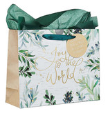 Joy To The World Large Christmas Gift Bag with Tissue Paper