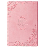 I Know the Plans Pink Slimline Faux Leather Journal - Jeremiah 29:11