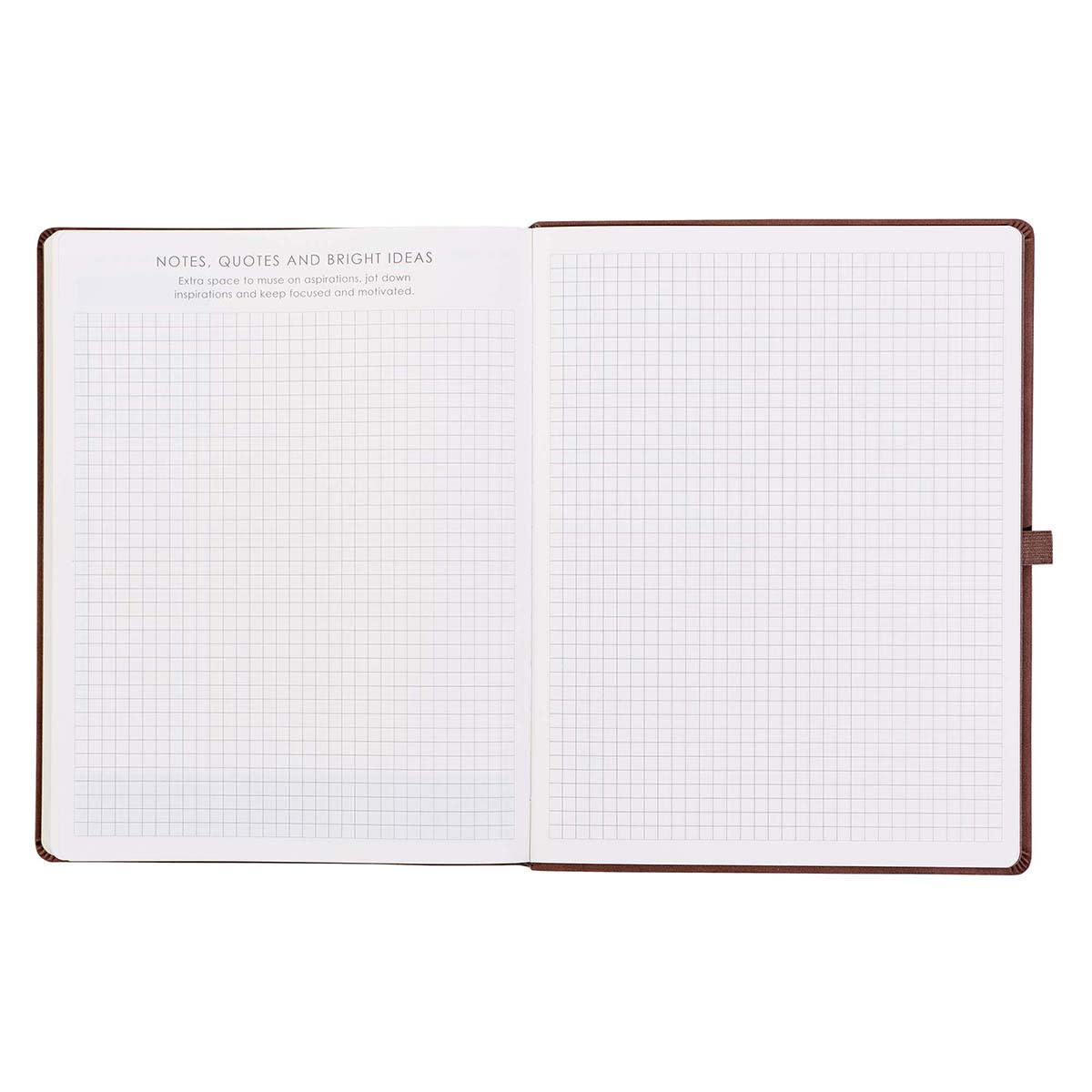 Brown Faux Leather Baxter Executive Undated Planner