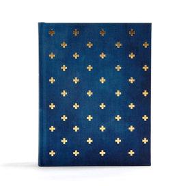 CSB Notetaking Bible - Navy/Cross Cloth Over Board