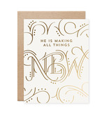 All Things New Gold Foil Card