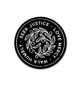 Seek Justice Sticker