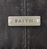 "Classic ""Faith"" Bible Cover - Black"