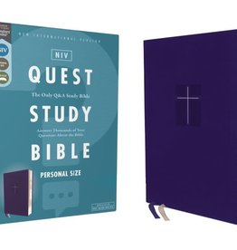 NIV, Quest Study Bible, Personal Size, Leathersoft, Blue, Thumb Indexed, Comfort Print