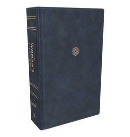 NIV, The Woman's Study Bible, Leathersoft, Blue, Full-Color, Thumb Indexed, Comfort Print