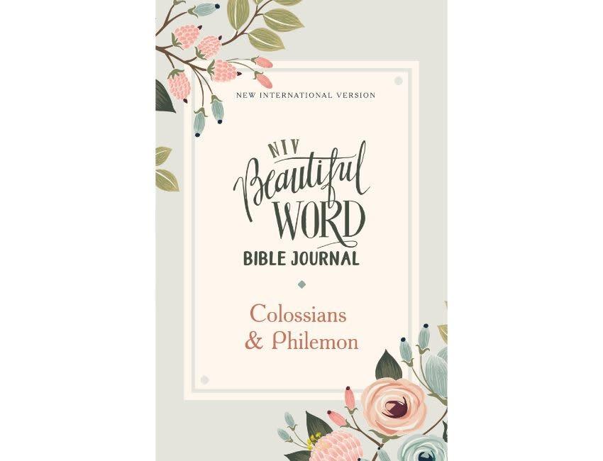 NIV, Beautiful Word Bible Journal, Colossians & Philemon, Paperback, Comfort Print