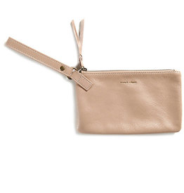 Strength + Dignity Leather Wristlet