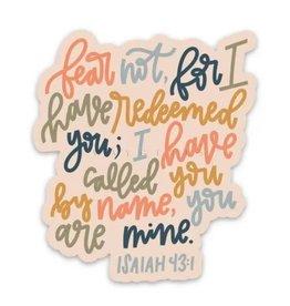 Isaiah 43:1 Sticker