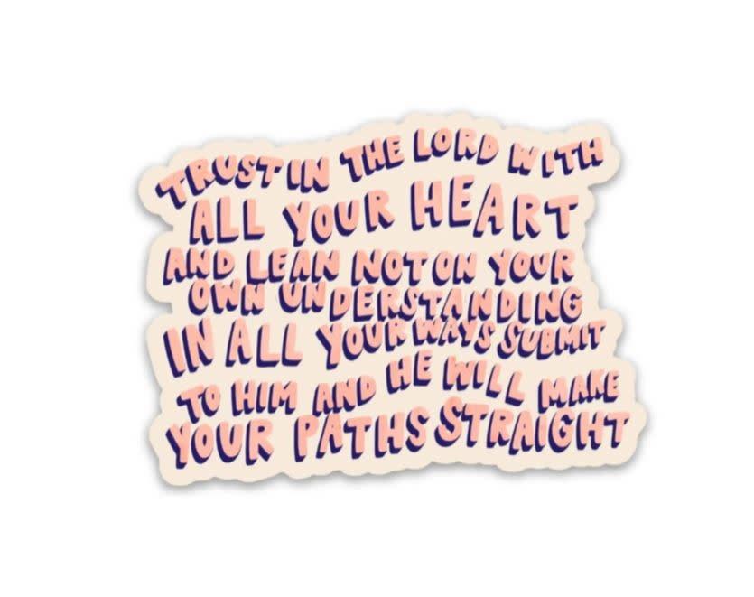 Proverbs 3:5-6 Sticker