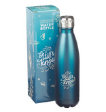 Be Still & Know Frosty Blue Stainless Steel Water Bottle - Psalm 46:10