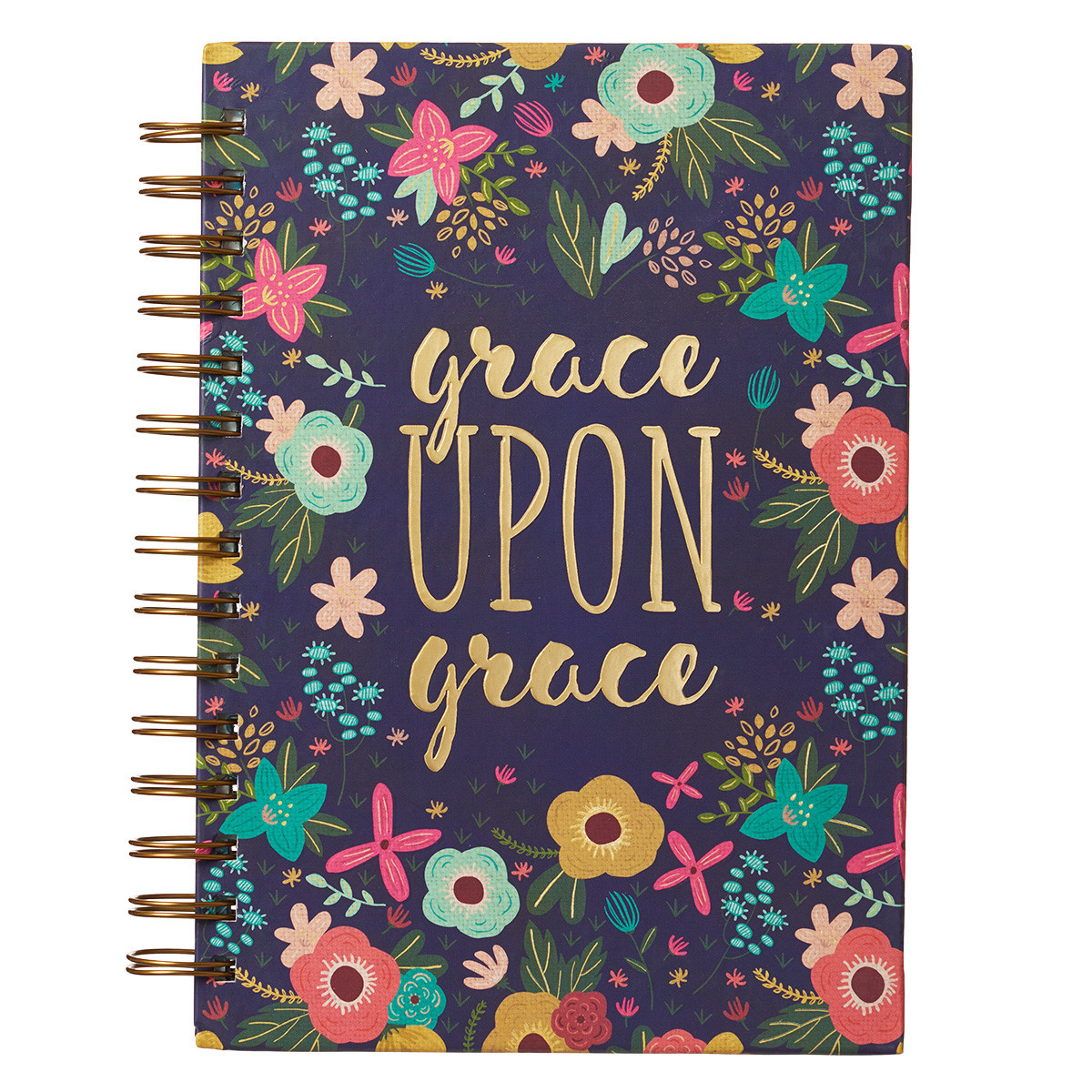 Grace Upon Grace Large Hardcover Wirebound Journal - John 1:16