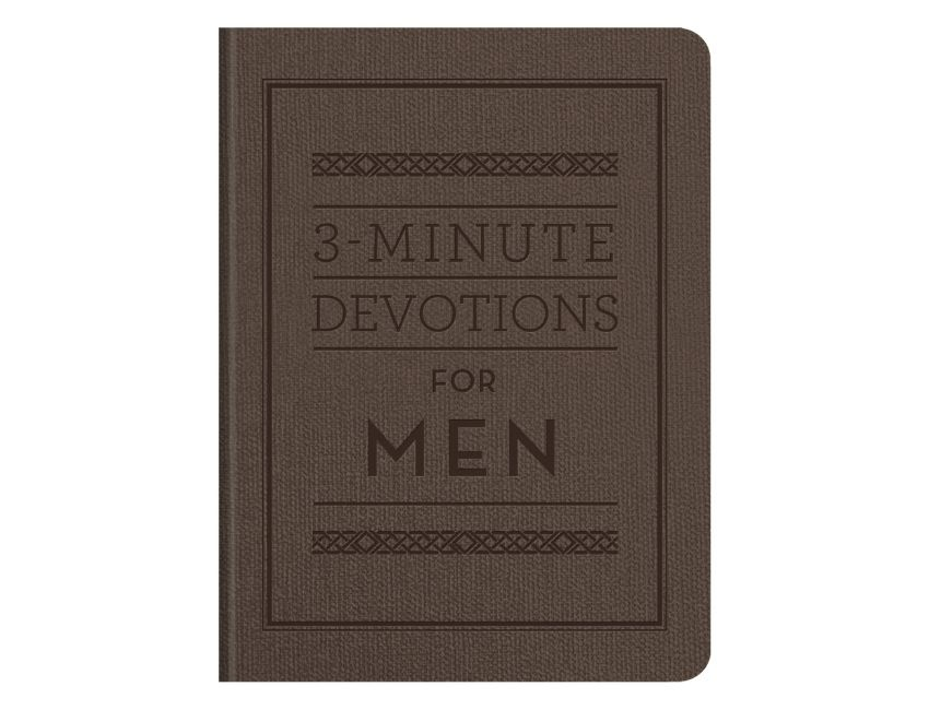 3-Minute Devotions for Men Leather Edition