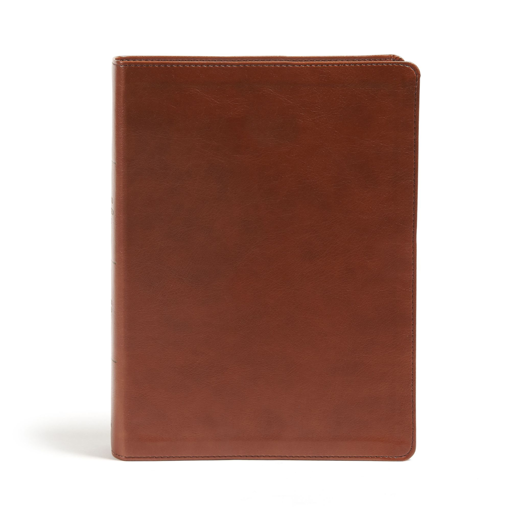 CSB Holy Land Illustrated Bible - British Tan Leathertouch