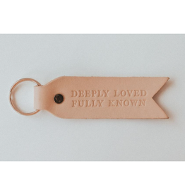 Deeply Loved Fully Known Key Fob - Blonde