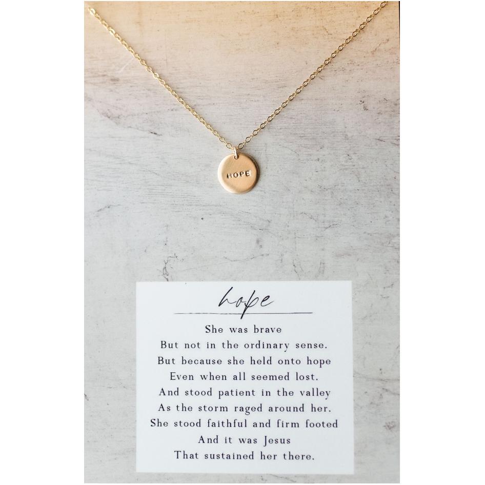 Hope 14kt Gold Filled Necklace