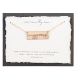 Immeasurably More  14kt Gold Filled Necklace