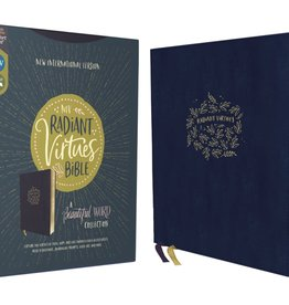 NIV, Radiant Virtues Bible: A Beautiful Word Collection, Leathersoft, Navy, Red Letter, Comfort Print