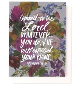 Commit To The Lord Verse Greeting Card
