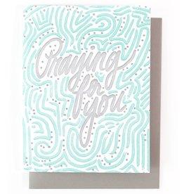 Praying For You Single Letterpress Card