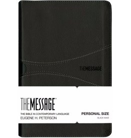 The Message Personal Size Bible - Black Leather