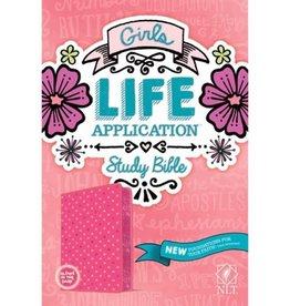 NLT Girls Life Application Study Bible - Pink Glow