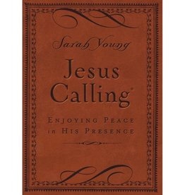 SARAH YOUNG JESUS CALLING BROWN LEATHER EDITION