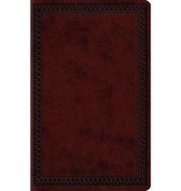 ESV Large Print Value Thinline Bible - Mahogany Border