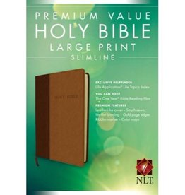 PREMIUM VALUE LARGE PRINT SLIMLINE NLT BIBLE