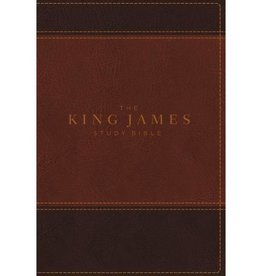 THE KING JAMES BIBLE - BROWN LEATHERSOFT