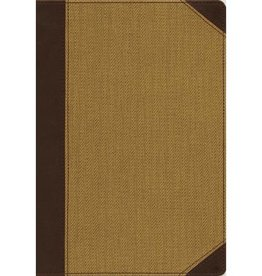 NIV Cultural Backgrounds Large Print Study Bible - Chocolate/Tan