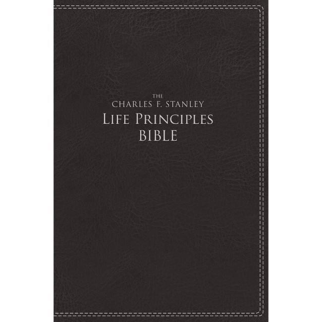 CHARLES STANLEY NIV Charles Stanley Principles Study Bible - Black