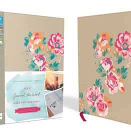 NIV Journal the Word Bible for Teen Girls - Gold/Floral