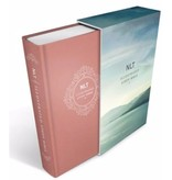 Illustrated Study Bible NLT, Deluxe Linen Edition Pink