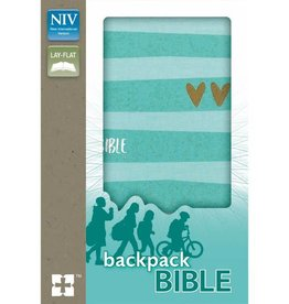 NIV Backpack Bible - Turquoise/Gold