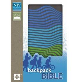NIV Backpack Bible - Charcoal/Stripe