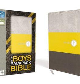 NIV Boys Backpack Bible - Yellow/Charcoal