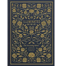 ESV Illuminated Bible, Art Journaling Edition (Cloth Over Board) Navy