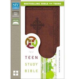 NIV Compact Study Bible - Brown Imitation Leather
