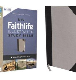 NIV Faithlife Illustrated Study Bible - Gray/Black