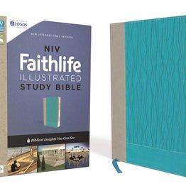 NIV Faithlife Illustrated Study Bible - Gray/Turquoise