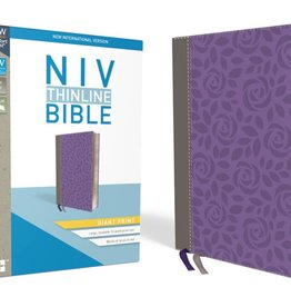 NIV Giant Print Thinline Bible - Gray/Purple